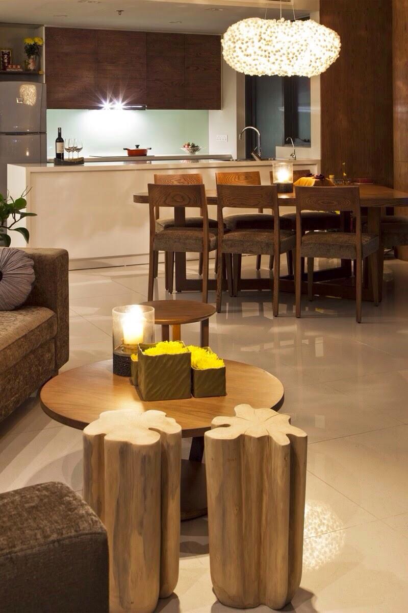 Phòng ăn căn hộ City Garden 2 phòng ngủ đẹp