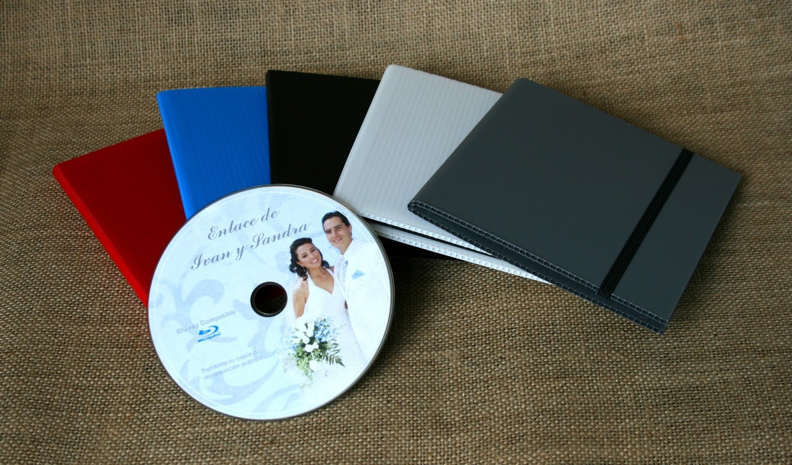 Estuche para DVD policarbonato con muestra