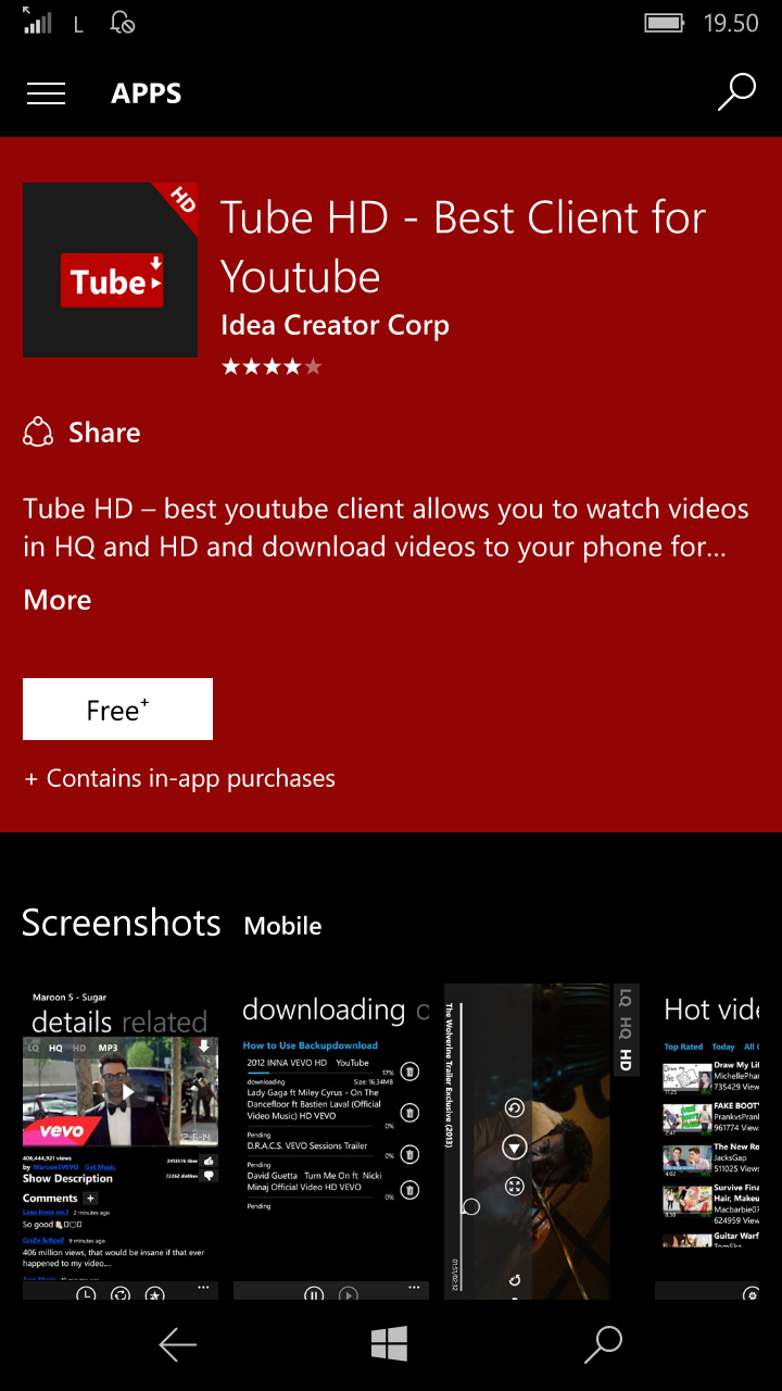 Windows mobile phone: HD youtube download| setting and upgrade