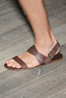 Sandália masculina da griffe Hermés