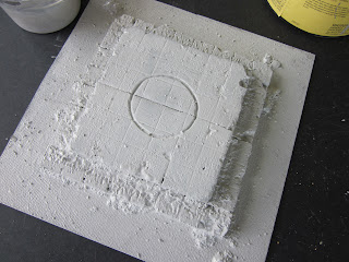 Painting the base for Warhammer 40k Terrain Project