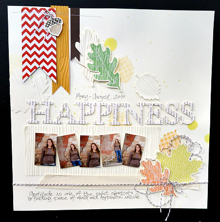 Happiness Fall Themed Scrapbook Page