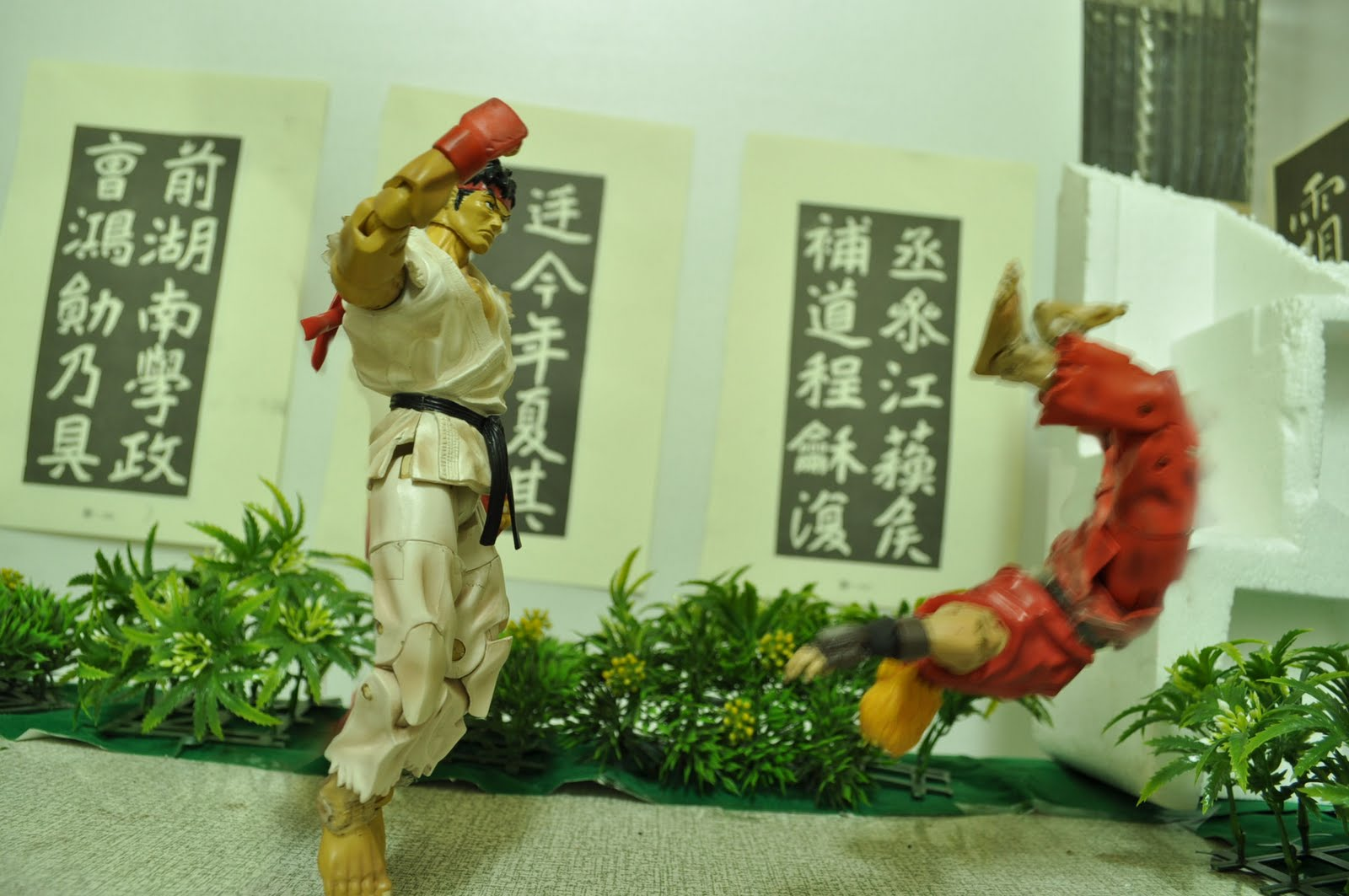 Animasi 'stop motion' Street Fighter - Ryu lawan Ken
