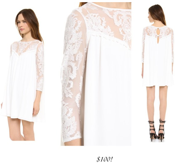 For Love and Lemons white dress