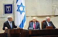 Israeli PM Netanyahu speaking before the Knesset on Oct. 31, 2011.
