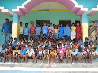 [KIRF India's students and staff at Kirwin James International School, Shekhwara August 2011]