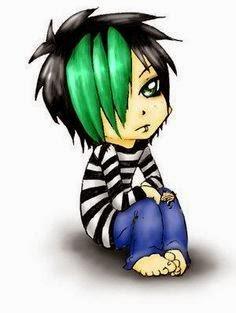 I was an emo teen, i guess. Minus the green hair hehe (photo source)