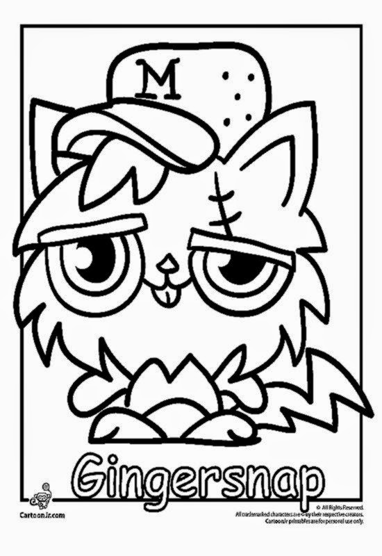 Moshi Monsters Coloring Pages Free Coloring Sheet