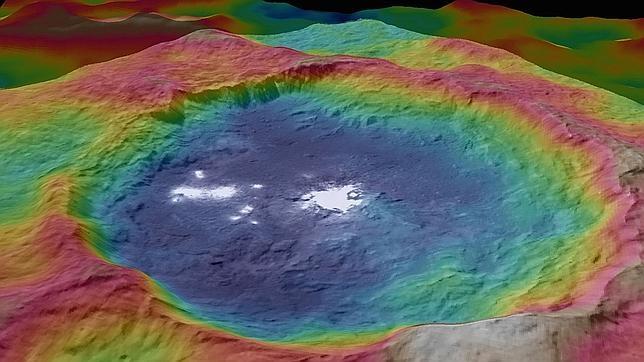 Sin resolver misterio de las manchas blancas en Ceres.
