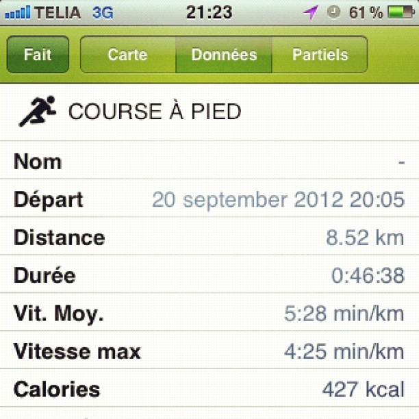 endomondo result