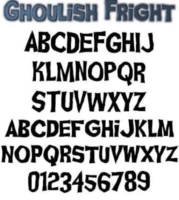 Graffiti alphabet Fonts ghoulish fright