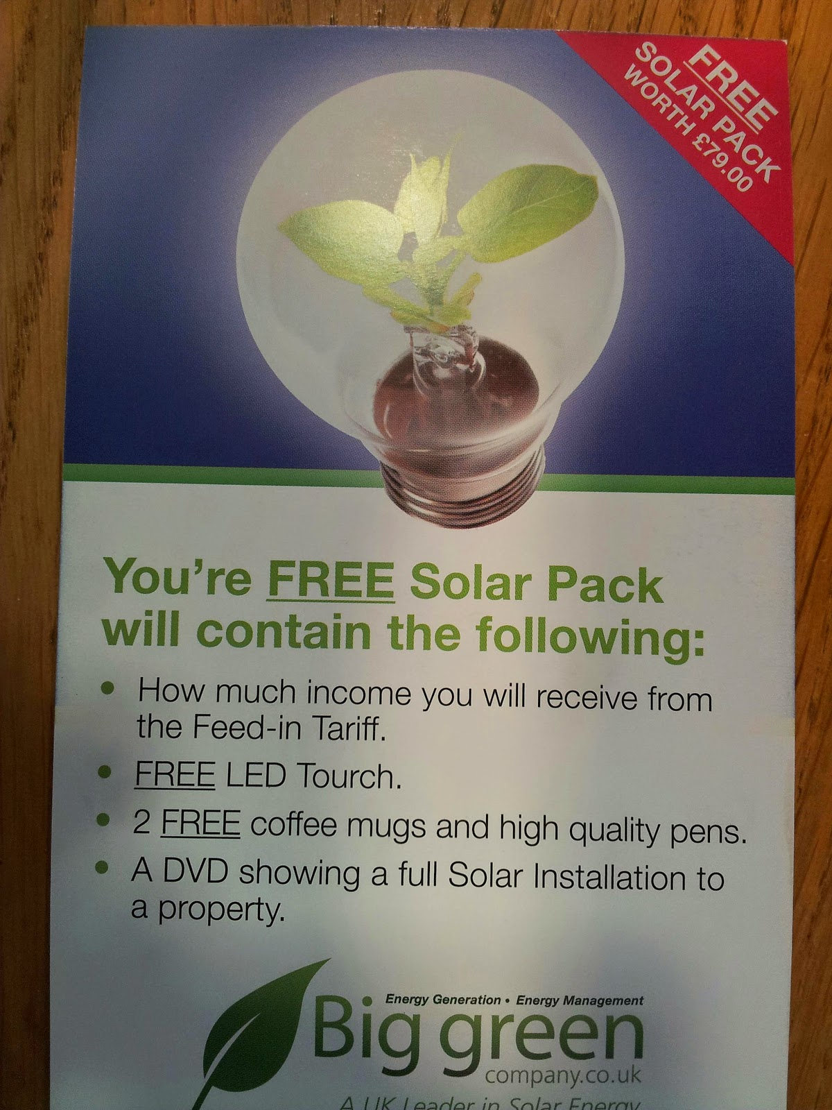 "Image containing the words ""You're free Solar Pack..."""