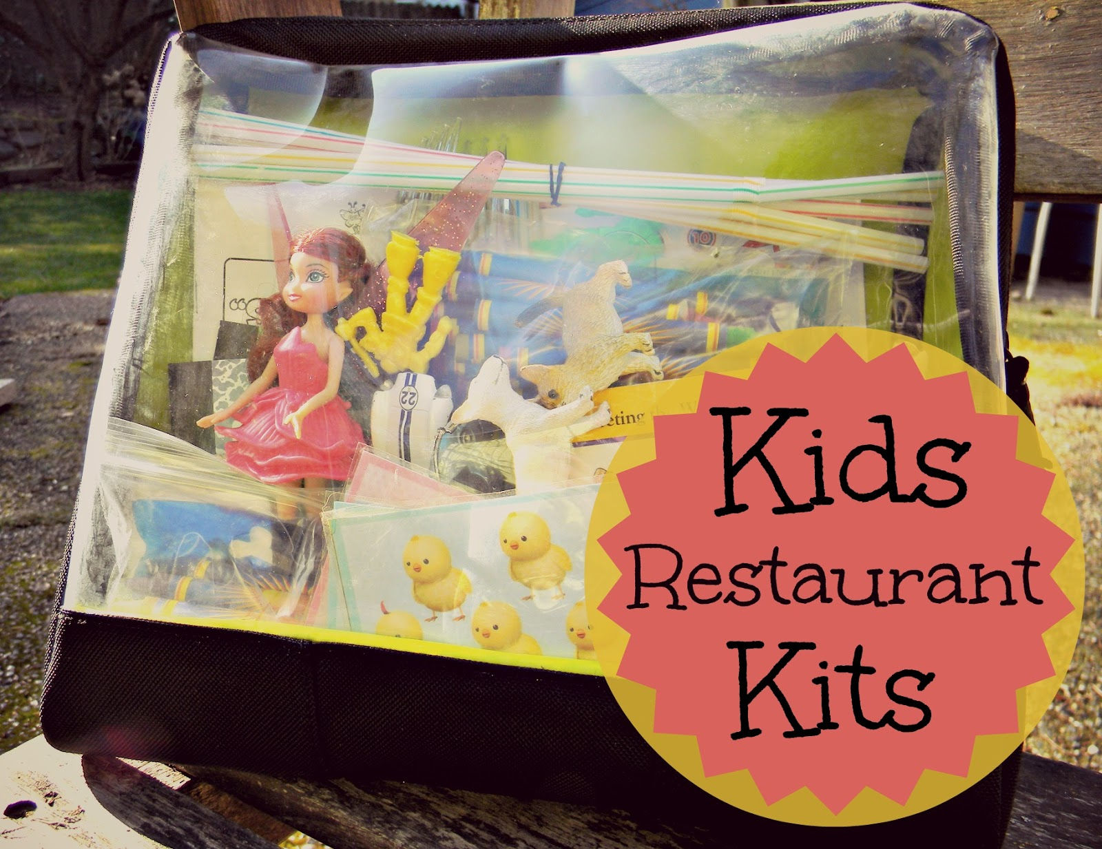 create a restaurant activity kit to keep kids entertained at dinner