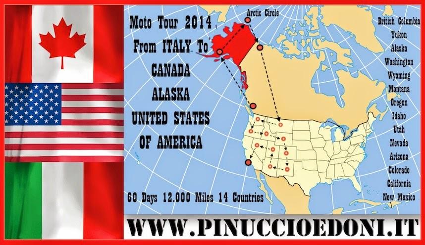 ALASKA CANADA USA Moto Tour 2014 di Pinuccio e Doni