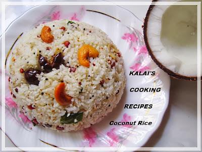 Easy Coconut Rice | தேங்காய் சாதம் | Thengai Saatham