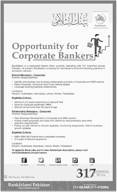 New Jobs in Bank Islami Pakistan 2016