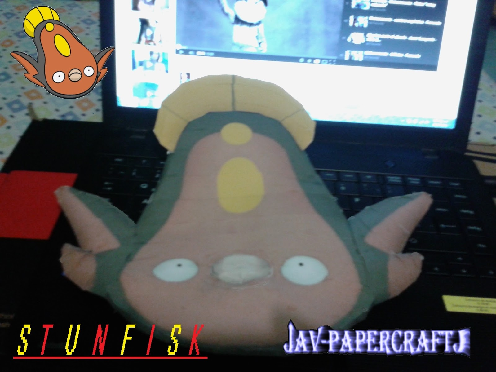 Pokemon Stunfisk Papercraft