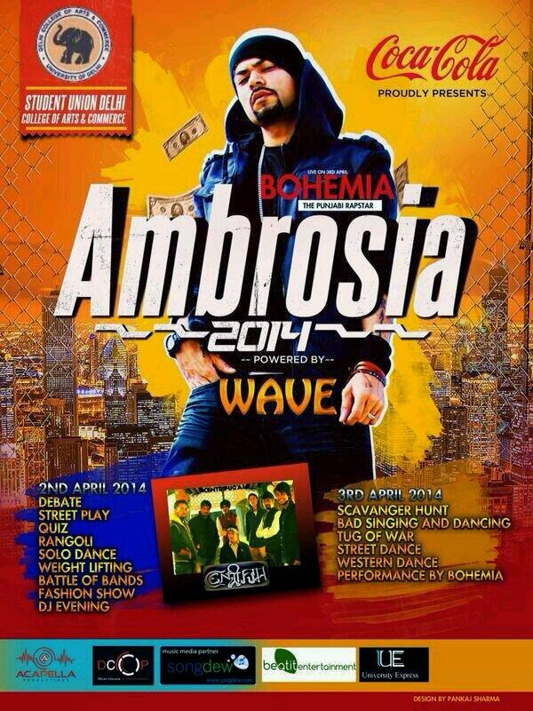 BOHEMIA - Live at Delhi College of Arts & Commerce on April 3rd