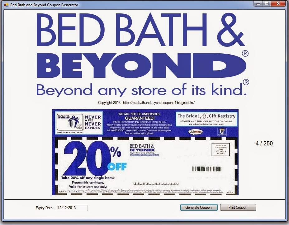 How to get bed bath and beyond coupons