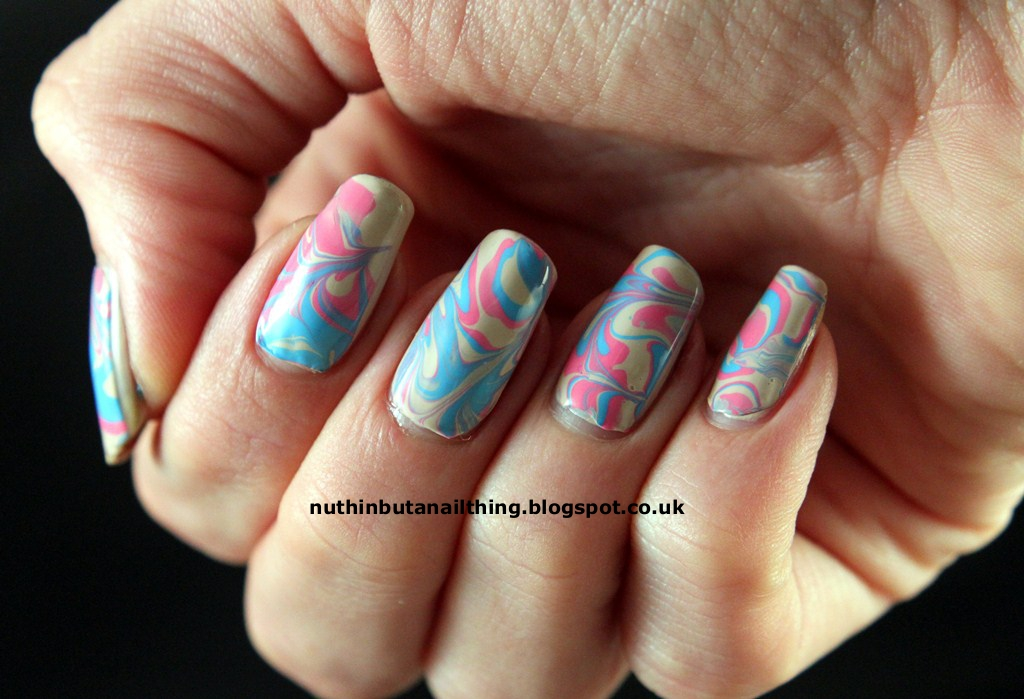 nuthin' but a nail thing: Dry Water Marble Nails Tutorial