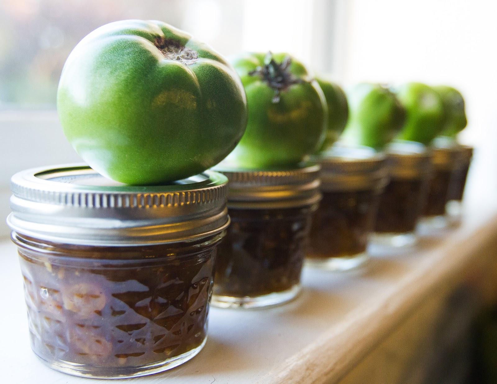 City Stitchin': Green Tomato Apple Chutney