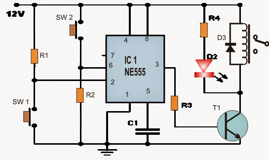 How to make a Set Reset Circuit using IC 555
