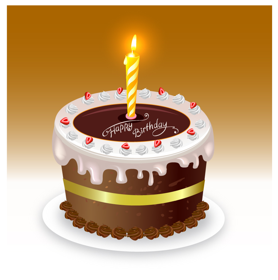 誕生日ケーキのクリップアート happy birthday cake イラスト素材