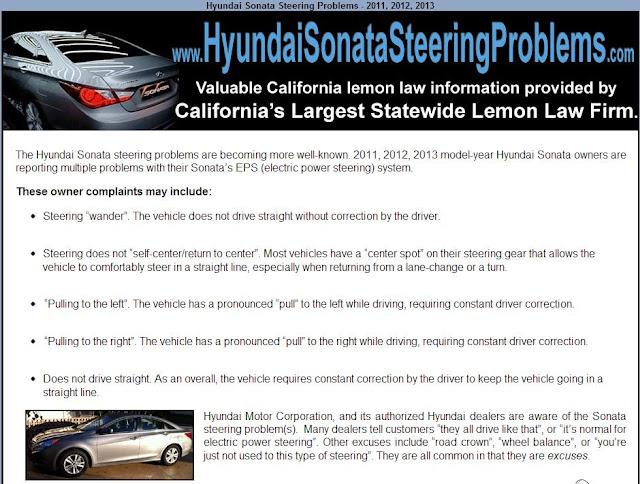 2013 hyundai sonata steering problems. Black Bedroom Furniture Sets. Home Design Ideas