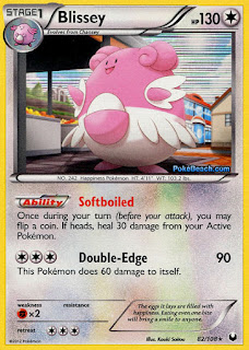 Blissey Dark Explorers Pokemon Card