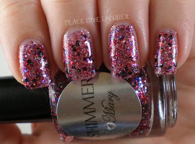 Shimmer, Mary, Red, Silver, Black, Indie, Glitter