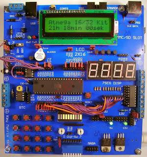 Zestaw startowy (płytka testowa, prototypowa, uruchomieniowa, itp.) oparta o jeden z mikrokontrolerów ATmega16/32/x64