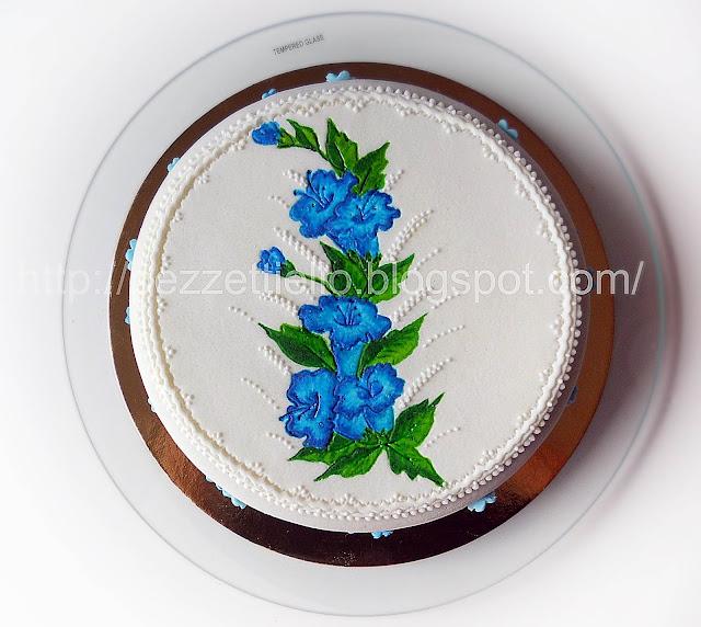 (PDZ-SAP) Torta dipinta con fiorellini