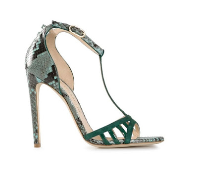 Chloe Gosselin High heeled green sandals