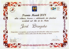 PREMIO DEL FRIULI A JOSÉ BRAGATO, 2008