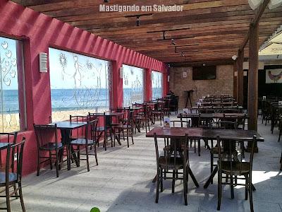 Red River Café: Ambiente externo