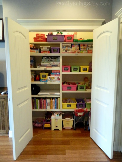 31 days of organizing day 19 playrooms from Closet toy storage ideas