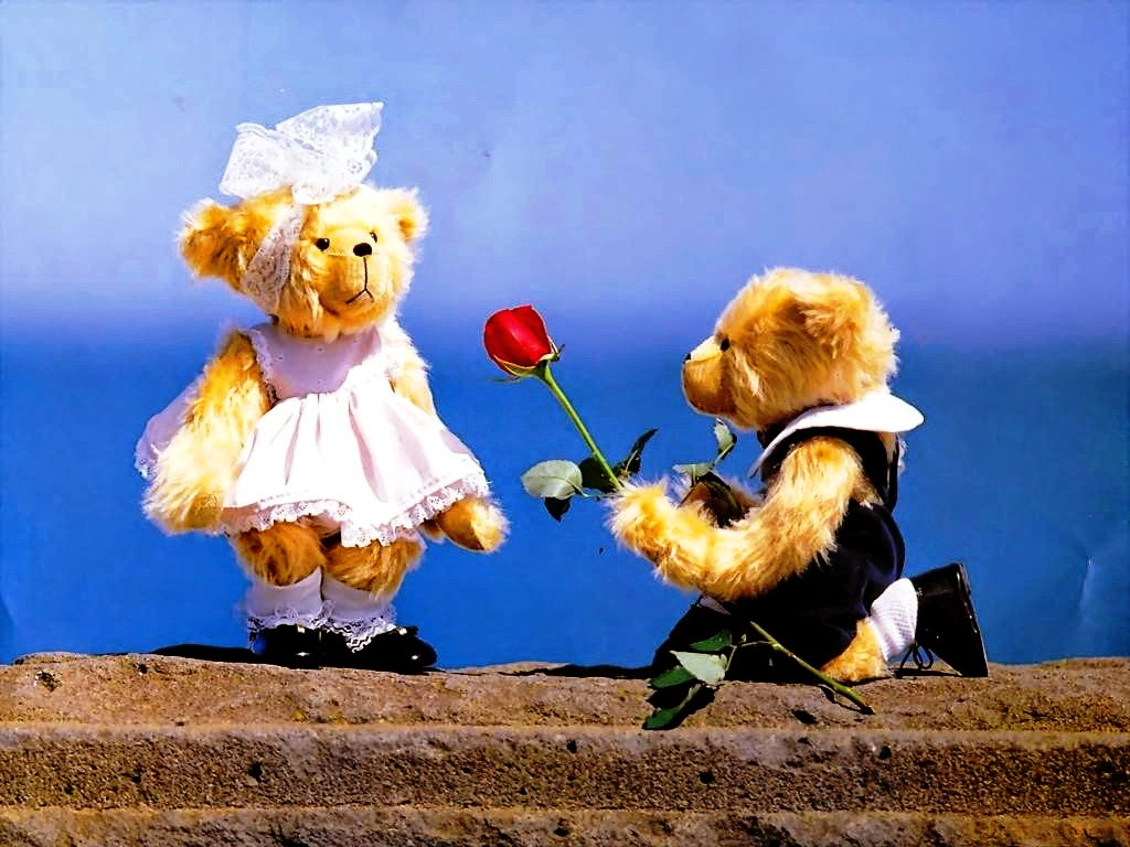 Happy Teddy Day Proposing Cute Wallpaper