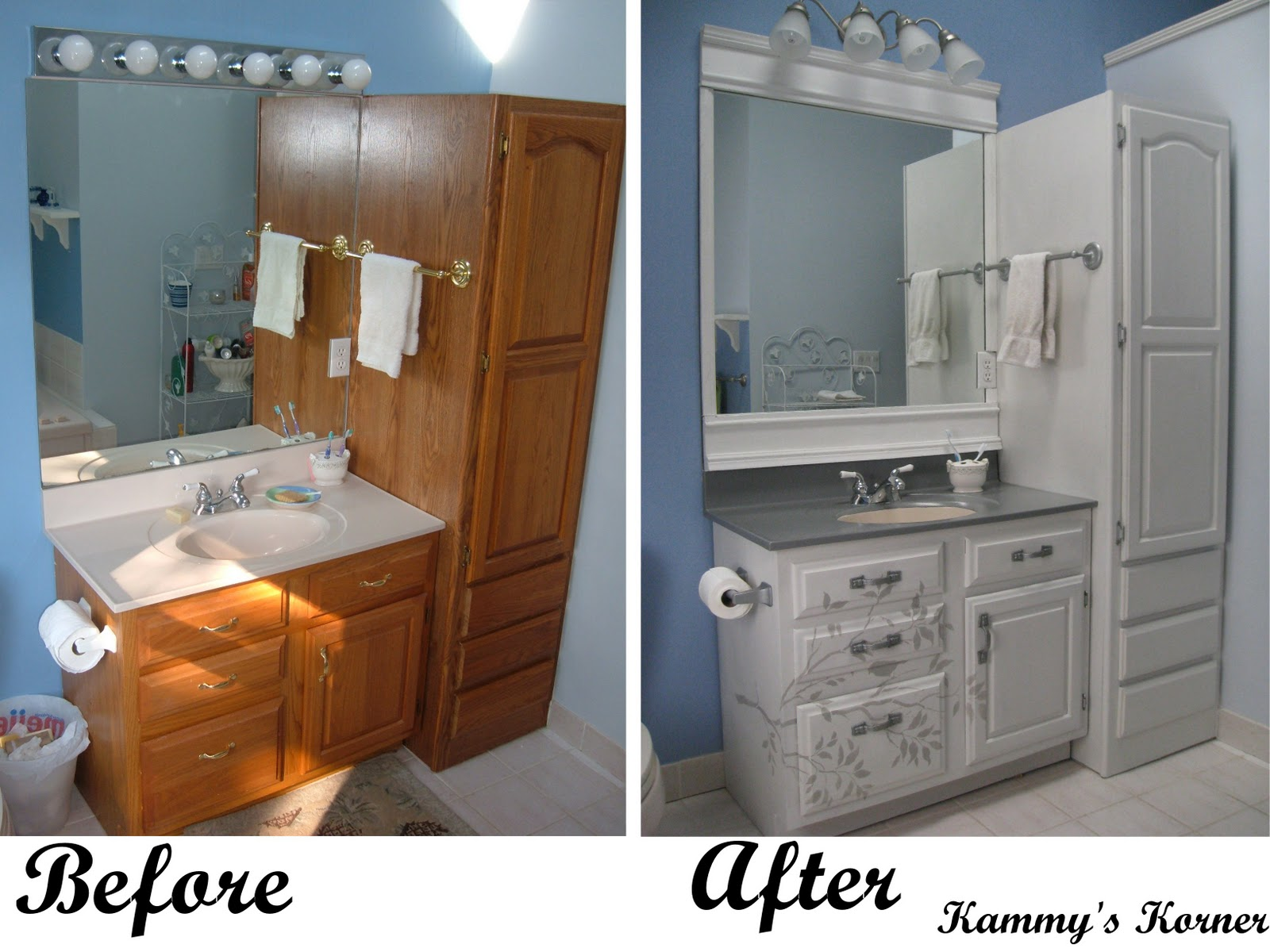 Bathroom vanity painting before and after - Master Vanity Before And After For 33