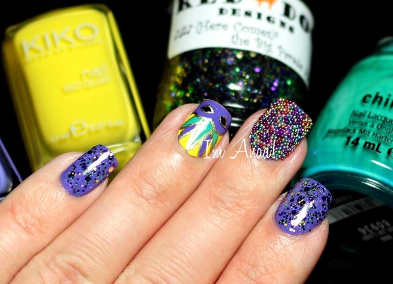 Nailstorming: Mardi Gras ♫ ♪