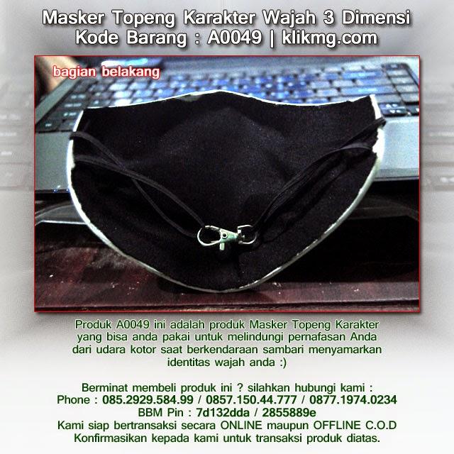 Masker Topeng Karakter Wajah 3 Dimensi - Kode Barang : A0049