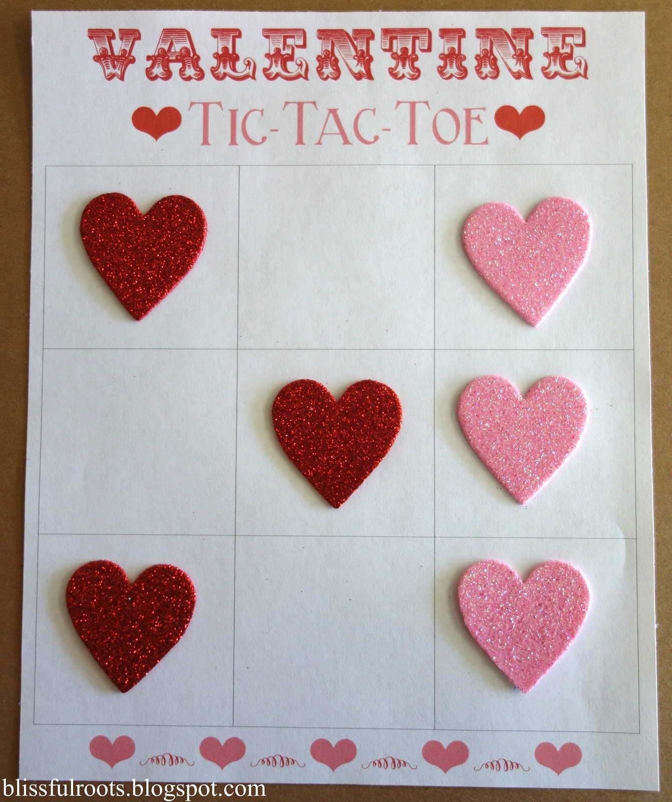 This is a picture of Clean Valentine Tic Tac Toe Printable
