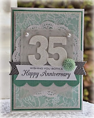35th Wedding Anniversary Gift Ideas For Friends : Papercraft Designs: 35th Wedding Anniversary