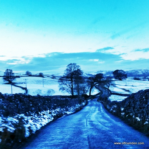 dry stone walls and snow