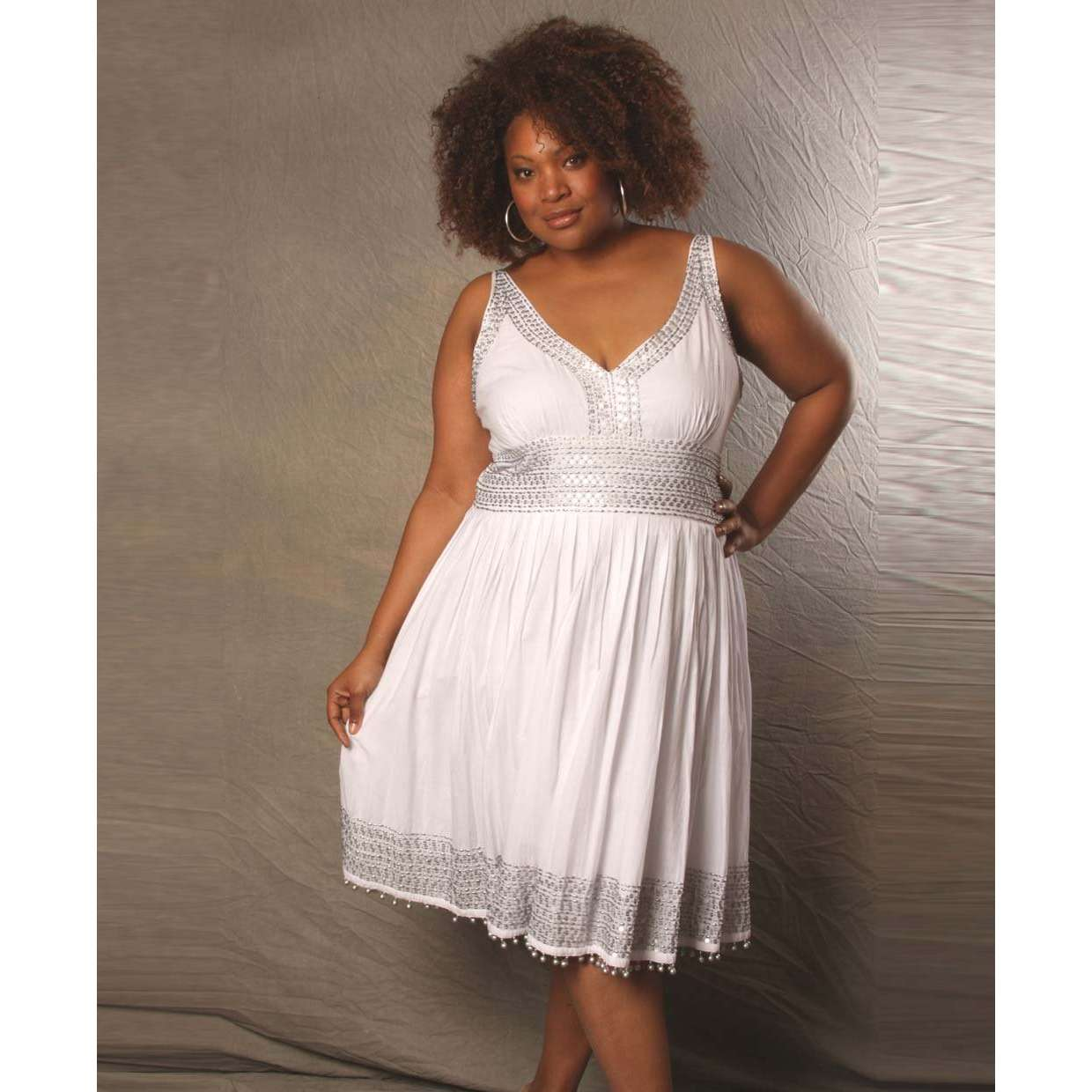 White Dress Pictures: Plus Size White Summer Dress