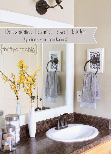 Framed towel holder