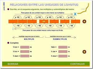 Relació entre unitats de mesura de longitud