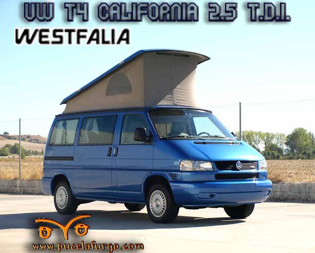 VOLKSWAGEN T4 CALIFORNIA WESTFALIA 2.5 T.D.I. A.A 102 C.V. 1999 Precio 22.100 €