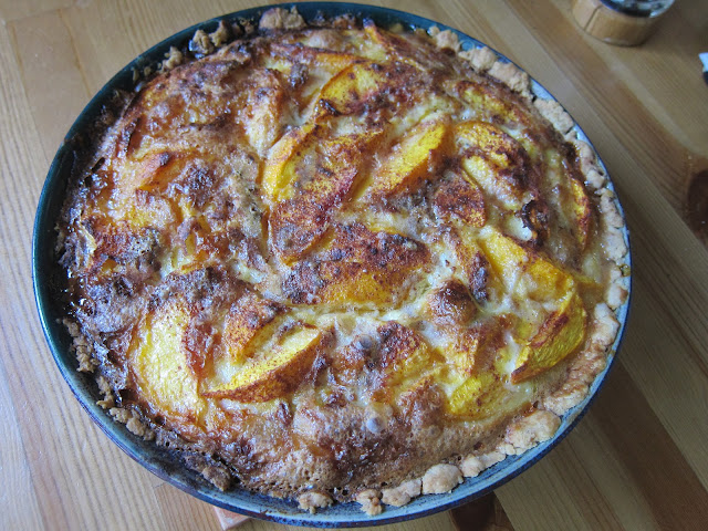 peach custard pie recipe