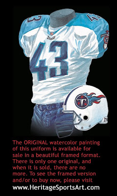 Tennessee Titans 2001 uniform