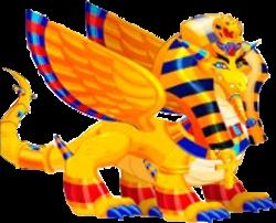 imagen del dragon faraon en la isla egipcia